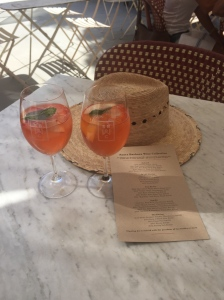 Sangria and the best adventure hat (everybody should have one)!